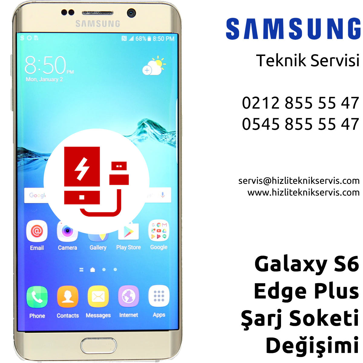 Samsung Galaxy S6 Edge Plus Şarj Soketi Değişimi